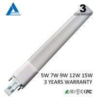 3 năm warrenty warm trắng cool white pl 220 V 5 wát 7 wát 9 wát 11 Wát 12 wát G23 led lamp light bulb G23 led đèn