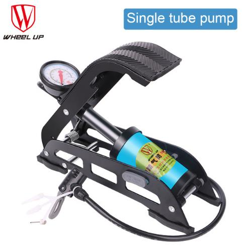 MTB High Pressure Pump Foot Air Pump Folding Portable Electric Motorcycle Bicycle Pump 130 PSI Single Tube Inflator portable high power color air blower electric balloon inflator pump two nozzle
