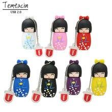 Nette U Disk Japanischen Puppen Kimono Mädchen USB Flash Pen Drive 4G 8G 16G 32G 64G Memory Stick Geschenke