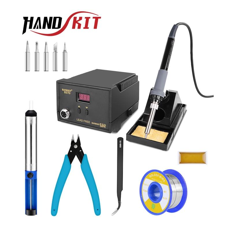 Handskit 220V 65W Digital Soldering Station BGA Rework Solder Station with Soldering Iron Soldering Stand 5