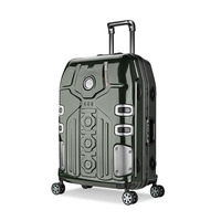 3 Size Aluminum Frame Spinner luggage Carry on cabin TSA Scratch Resistant Travel trolley Rolling luggage Suitcase valise enfant