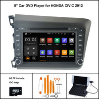 Android 5 1 Quad Core CAR DVD Player For HONDA CIVIC 2012 NAVIGATION STEREO 1024X600 HD