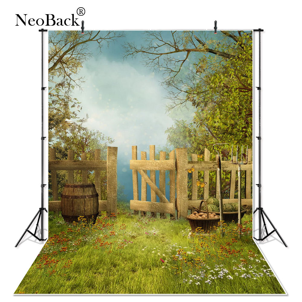 NeoBack Vinyl New Born Baby Photography Backdrop Children kids Backdrop Printed Studio Portrait Vintage Garden Photo Backgrounds oxford oil painting park photography backdrop printed children baby party backgrounds for photo studio