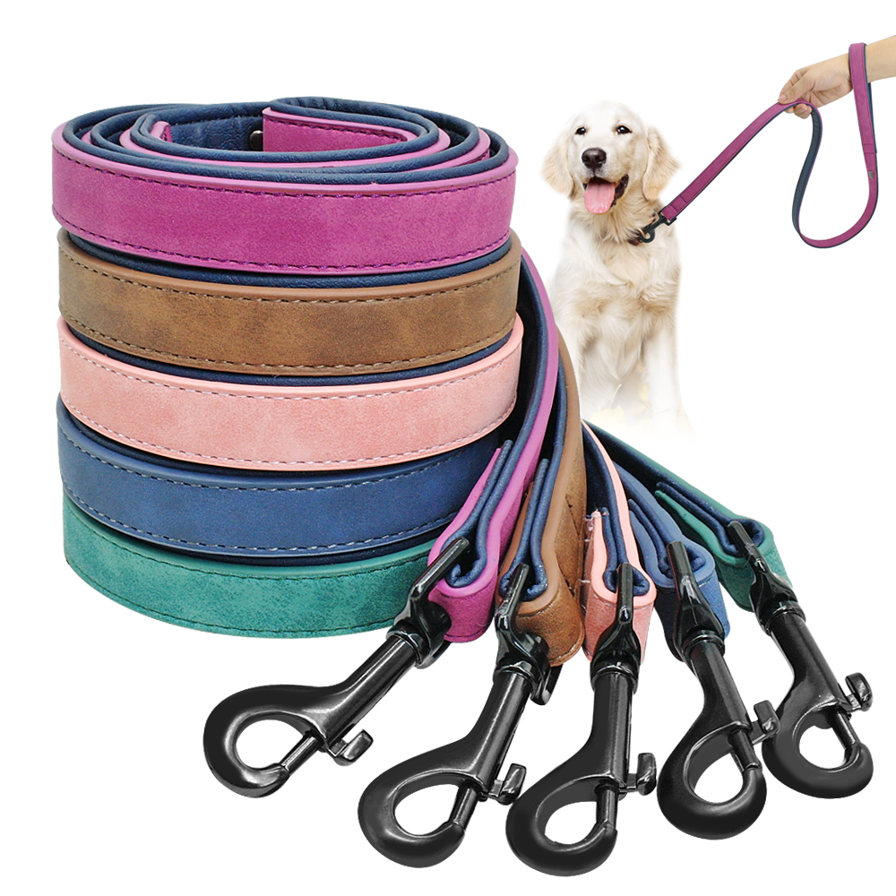 Dog Leash Harness Leather Lead Pet Dog Puppy Walking Running Leashes Training Rope Belt For Small