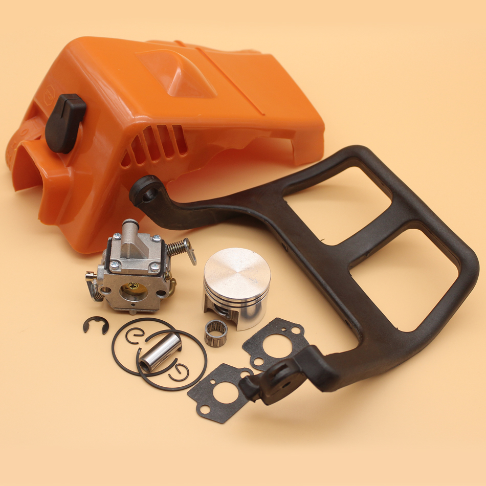 Top Engine Cylinder Cover Chain Brake Front Handle Carburetor Piston Kit For STIHL MS180 MS 180 018 Zama C1Q-S57B Chainsaw Parts replacement carburetor carb for stihl ms170 ms180 017 018 chain saw zama c1q s57b
