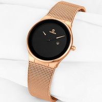 VINOCE Watch Women Automatic Waterproof Top Brand Quartz Watches Full Stainless Steel Black Gold Clocks Elegant Ladies Watch