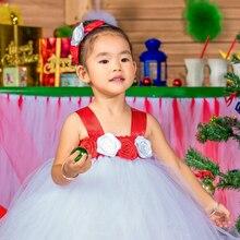 2016 новых европейских рождество платье махрово ребенок пачка платье на заказ платье новый год девушки туту платье