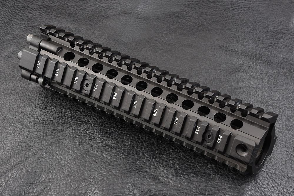 Caça tiro tático ar 15 9 polegada quatro lados 20mm picatinny ferroviário handguard sistema cnc da liga de alumínio corte m2299