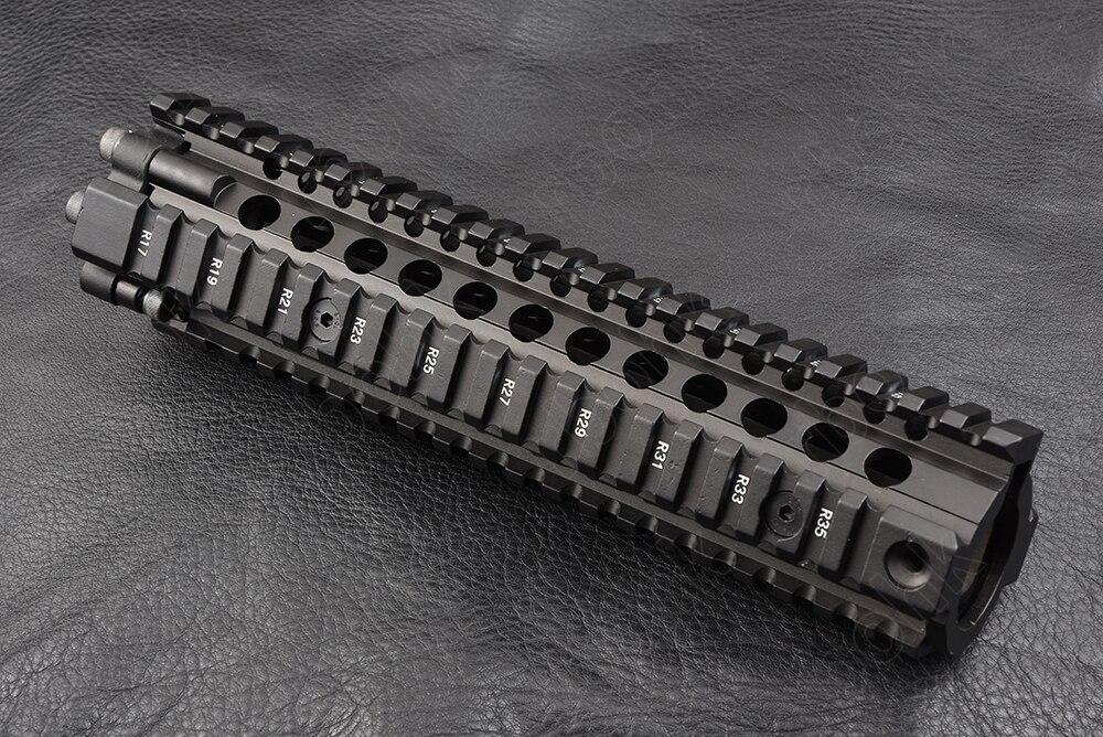 Chasse tir tactique AR 15 9 pouces quatre côtés 20mm picatinny rail garde-corps système CNC en alliage d'aluminium coupe M2299