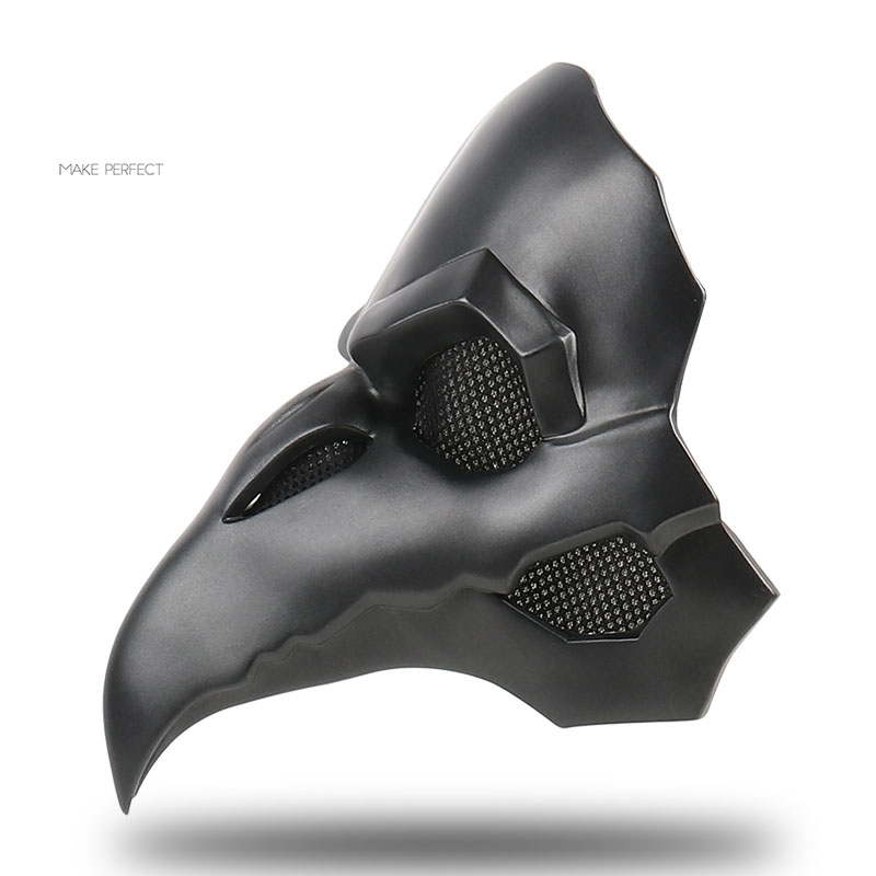 Cool OW PVC Punk masque corbeau Reaper never more peau masques faucheur peste docteur masque oiseaux Long nez Punk corbeau rétro Rock Overwatch