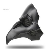 Cool OW PVC Type Punk Mask Crow Reaper Nevermore Skin Black Masks Reaper Plague Doctor Mask Birds Long Nose Punk Crow Retro Rock