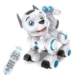 Rc robô inteligente patrulha simulação cães andando & dança robôs com música luz excelente presente para crianças brinquedos hobby
