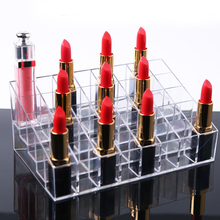 Clear Acrylic Lipstick Box Organizer 36/40 Make Up Holes Storage Holder For Display Stand Cosmetic Necklace Earring Organizador transparent acrylic earring holder organizer hanger display stand with 48 holes detachable
