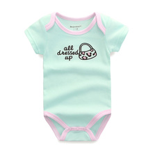 Baby Rompers Newborn Baby Boy Girls Clothes Short Sleeve Baby Clothing Girl Roupa Infantil Body Bebes Next Jumpsuit U-317