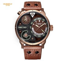 EYKI Brand Men S Military Sport Watches Men Genuine Leather Watches Waterproof Hour Date Quartz Wristwatch