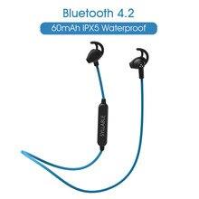 Оригинальный слог SF801 Bluetooth V4.2 наушники Спорт Беспроводная гарнитура стерео для телефона Android IOS слог SF801 с микрофоном