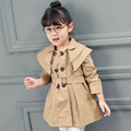 2017 autumn chlidren outerwear baby girls jackets clothes cotton vestidos infantil kids clothes casual style red/khaki jackets
