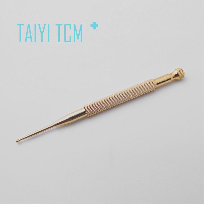 ФОТО Copper spring ear detection pen detector spring microprobe massage stylus pen