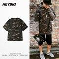 Kanye HEYBIG Brand Clothing Season 1 Camo Tee Street Fashion T-shirts Men Oversized Camouflage T shirt Chinese Size