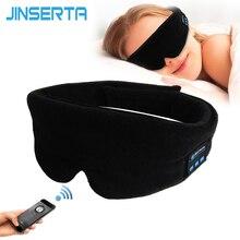 JINSERTA auriculares inalámbricos estéreo con Bluetooth, máscara para dormir, cinta para la cabeza para teléfono, auriculares suaves para dormir, mascarilla para dormir, auriculares de música