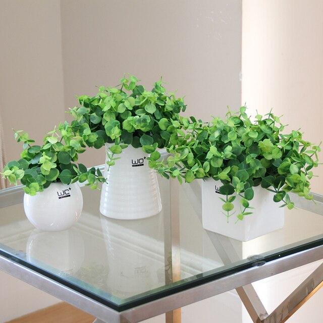 Kreative k nstliche topfpflanzen set simulation klee for Kleine mucken in topfpflanzen