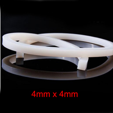 4mm x High temperature resistant solid silicone rubber sealing strip weatherstrip