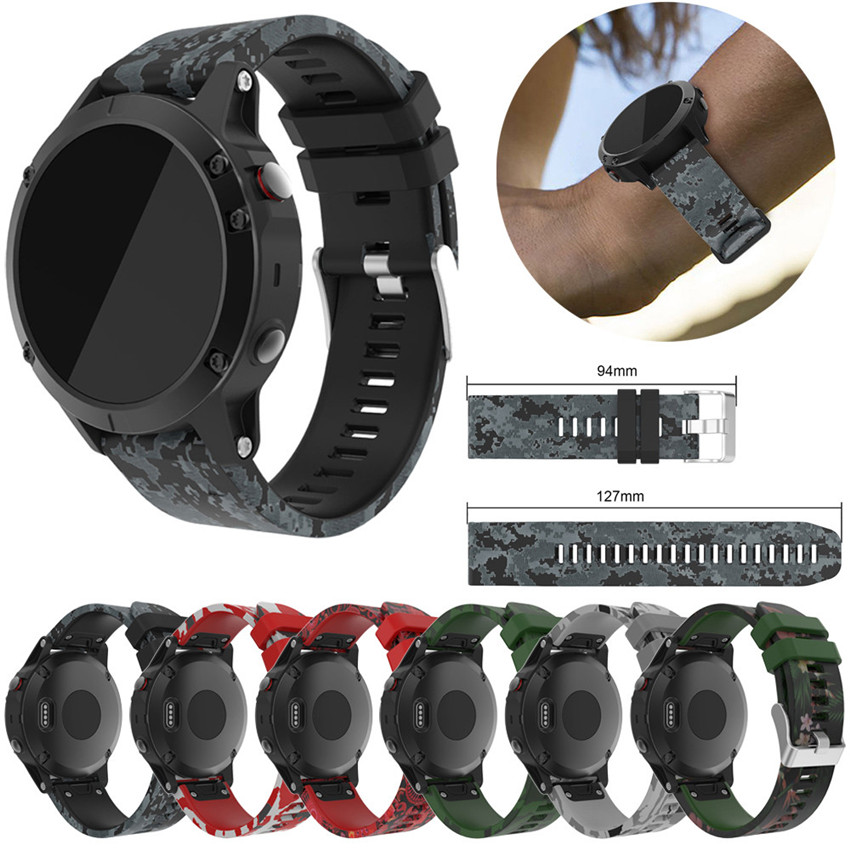 2018 Replacement Silicagel Soft Quick Release Kit Band Strap For Garmin Fenix 5 GPS Watch 220MM Electronic watch straps #0109 22mm woven nylon strap replacement quick release easy fit band for garmin fenix 5 forerunner935 approach s60