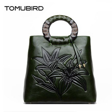 TOMUBIRD 2017 new quality cowhide material leather Embossed Luxury Tote famous brand women bag fashion genuine leather handbags