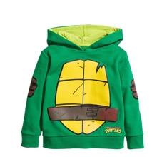 Boy Hoodies Cartoon Ninja Turtles Jacket Kid Sport Clothes Thick Warm Baby Boy Sweatshirt Autumn Winter Toddler Hoodies