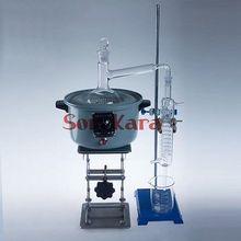 1000ml น้ำมันหอมระเหยไอน้ำกลั่นอุปกรณ์การกลั่นชุดเครื่องมือ Lab ใช้