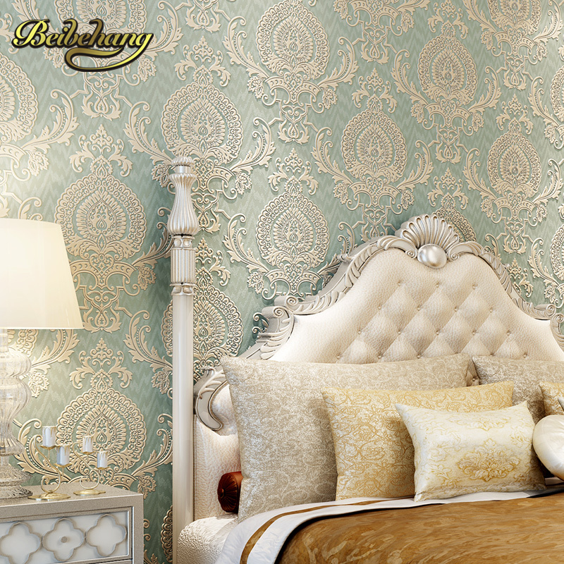 beibehang wall paper papel de parede 3d wallpaper. American Puna Damascus 3D stereoscopic relief non-woven wallpaper shop beibehang gold coffee continental damascus wallpaper 3d mural wall decals fresh textile non woven bedroom wallpapers wall paper