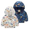 Children Outwear Autumn Spring Baby Boys Waterproof Jacket Animal Kids Clothing Boys Girls Jacket