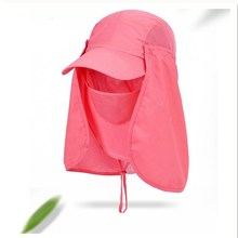 Fishing Cap Detachable Sunhats Women Men Casquette Sun Block Outdoor Hat With Mask Camping Hiking Sunshade Breathable Anti UV