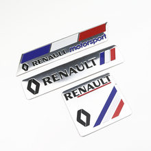 Pegatinas de decoración de coches logotipo 3D aluminio emblema insignia etiqueta para Renault Megane 2 3 Duster Logan Clio Laguna 2 Captur