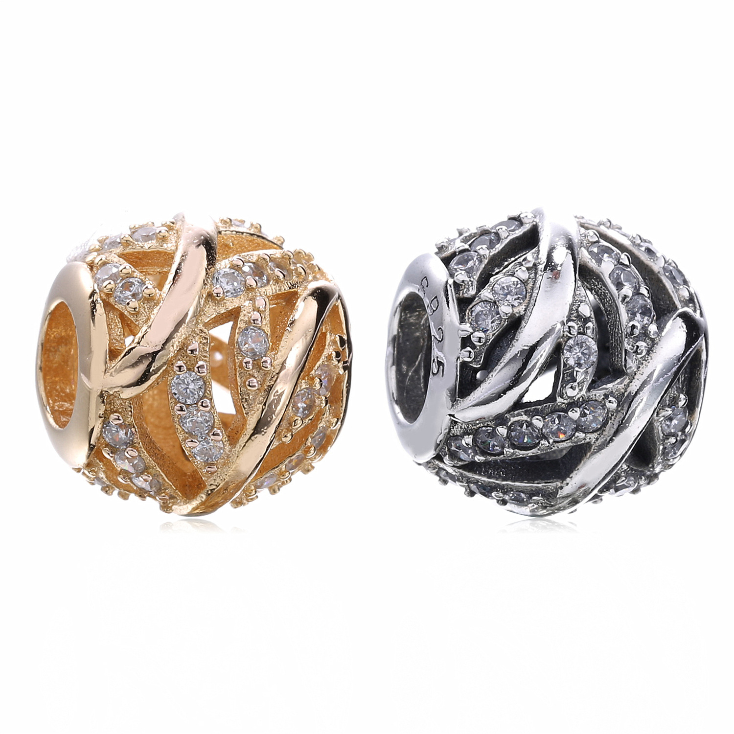 Authentic 925 Sterling Silver Galaxy Beads Fit Pandora Charm Bracelets & Bangles Necklace Diy Beads Women Jewelry Making