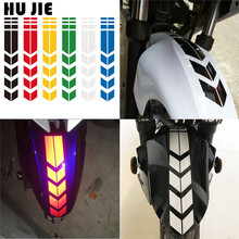 Motorcycle Reflective Sticker Moto Stickers and Decals Motorcycle Accessories Sticker On Bike Bicycle Mudguard Decoration 18 motorcycle reflective visual decoration sticker green 16 pcs