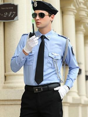 Uniforme de sécurité hommes costume militaire chemises ensemble travail porter grande taille scène Cosplay Costumes capitaine Costumes