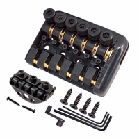 6 String Saddle Headless Electric Guitar Bridge Tailpiece With Worm involved string device High Quality Guitar Bridge Tailpiece