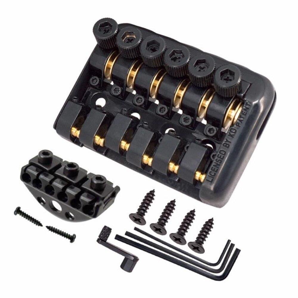 6 cordes Selle Guitare Electrique Headless Cordier Avec Ver impliqués chaîne dispositif Haute Qualité Cordier de Guitare