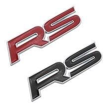 Dewtreetali Metal RS Emblem Badge Car Styling Sticker for Focus Chevrolet Cruze Kia Sportage Skoda Octavia Mazda VW Hyundai Opel
