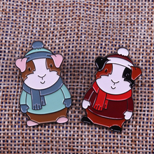 Brooches Jewelry Badges Girlfriend Cute of Red Gloves Scarf Couple Snowman Christmas-Pin