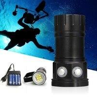 Tinhofire Diving 80M Underwater XHP70 XHP90 / L2 Photography Video White Red Blue LED Photo Fill light Flashlight 18650 Battery