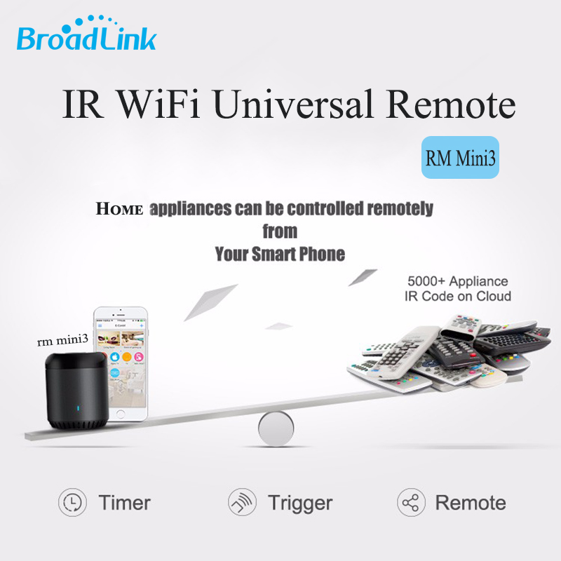 2017 Original Broadlink RM Mini3 Universal Intelligent WiFi/4G Wireless Remote Controller Via IOS Android Smart Home Automation new ltech wifi ir rf universal intelligent remote smart home automation control for iphone ios android xiaolei wifi remote