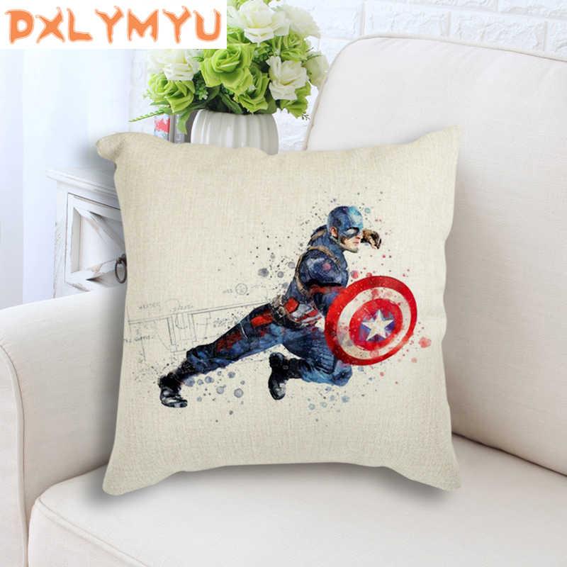 סופר גיבור ציפית מארוול Thor האלק הדפסת פשתן כרית דקורטיבי כריות בית תפאורה ספה לזרוק כרית מקרה 45x45 cm