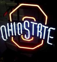 Business Custom NEON SIGN board For NCAA College Ohio State REAL GLASS Tube BEER BAR PUB Club Shop Light Signs 17*14