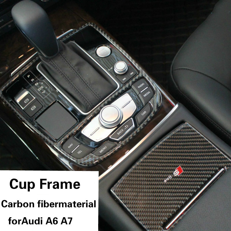 Car inner Plastic cover Storage trim Container Center Console Cup Holder gear box frame armrest For Audi A7 A6 цена