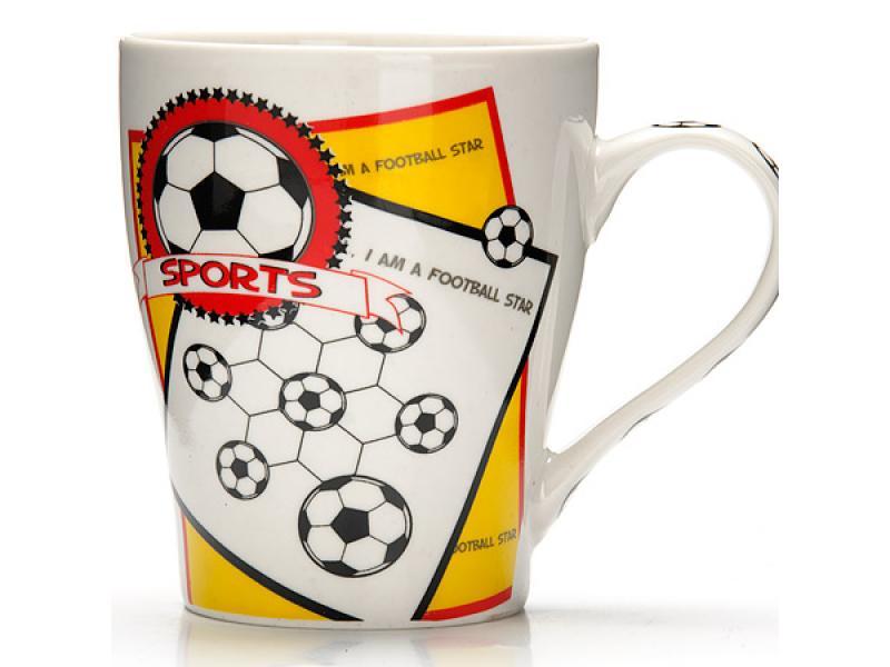 Mug LORAINE, Football, Sports, 340 ml, White mug lefard 340 ml white