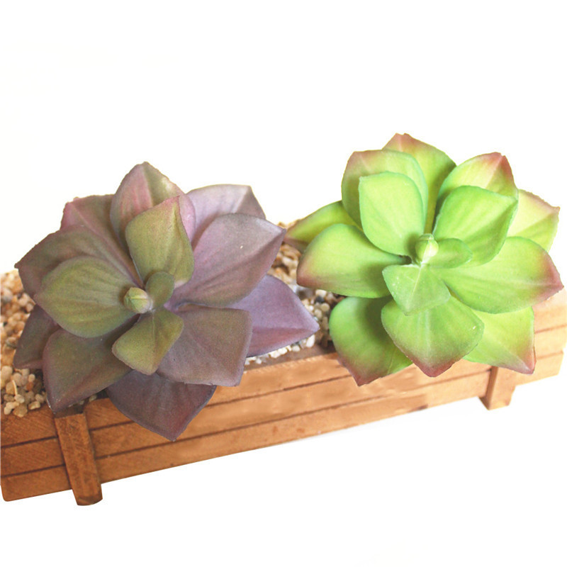 Realistic Artificial Lotus-like Succulents Plants With Horned Blades Plastic Craft Floristry Landscape For Garden Home Decor