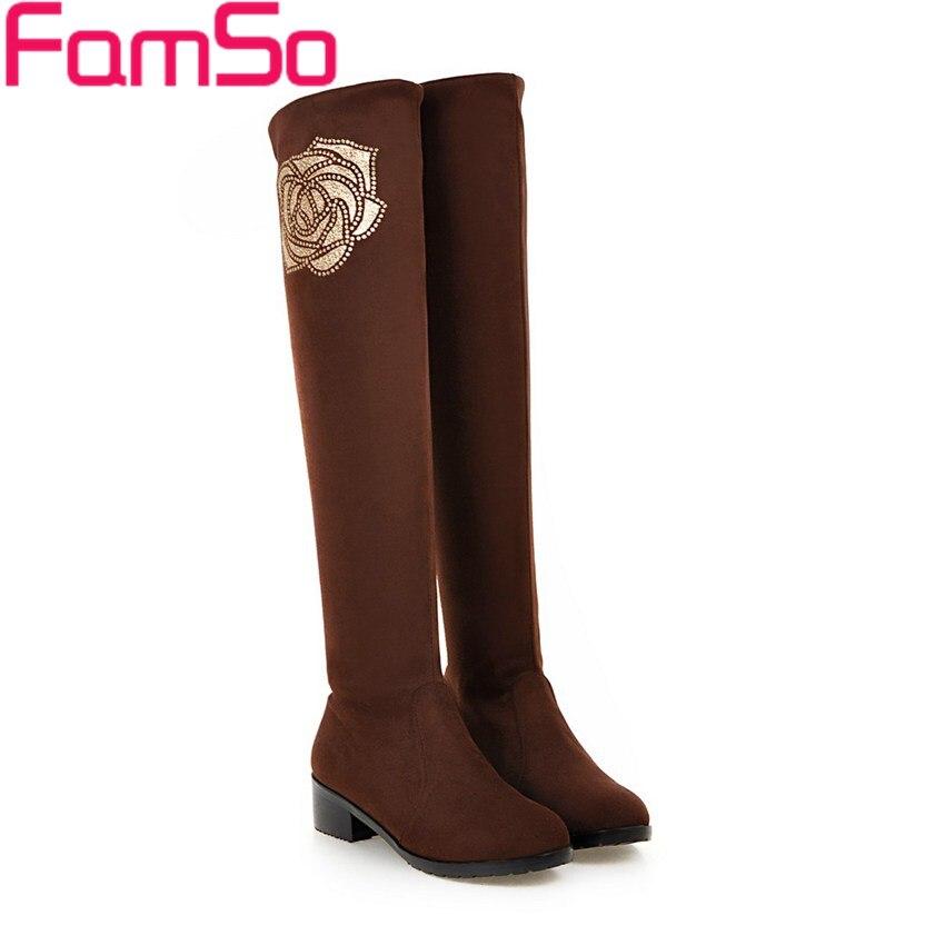 Plus Size 34 42 2016 New Retro Style font b Women b font boots Black Brown