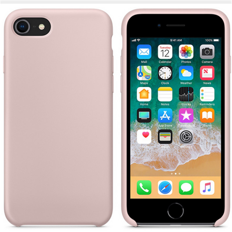 For IPhone 8 7 Plus New Fall Colors Silicone Case Luxury Official Design Original Elegant Full Protection Phone Cover With Logo In Fitted Cases From